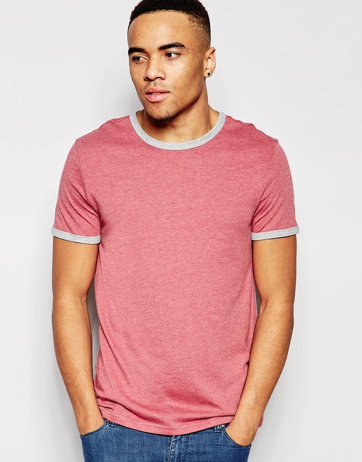 Imagen 1 de Camiseta rosa marga Ringer de New Look