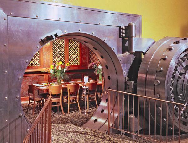 Dining Rooms, Safe Doors, Favorite Places, Awesome, Denver, Doors Sold, Vaulted Doors, Banks Safe, Cool Doors