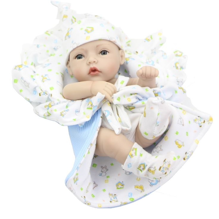 26.31$  Watch here - http://aitjy.worlditems.win/all/product.php?id=32724675692 - Collectible Full Silicone Vinyl 11 Inch reborn Baby Doll Boy With Green Eyes Real Looking Newborn Babies Kids Birthday Gift
