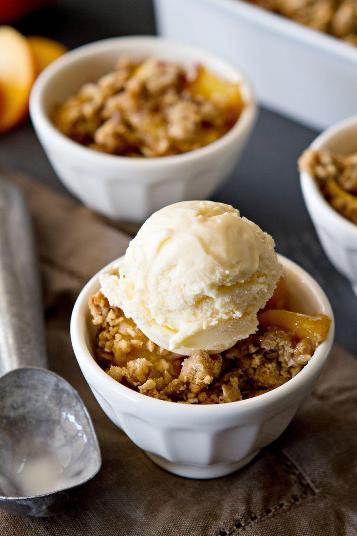 Fresh Peach Crisp Recipe | My Baking Addiction