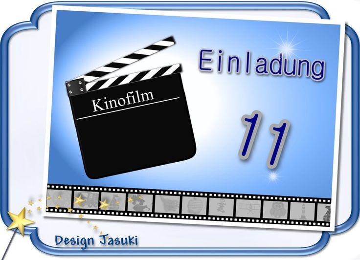 Einladungskarte+Kindergeburtstag++Kino+von+♪+♫+♪+++Kindergeburtstag+Store++♪+♫+♪+auf+DaWanda.com