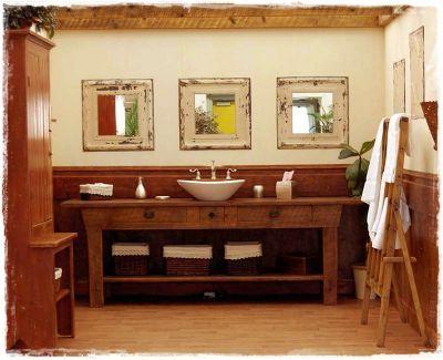 salle de bain rustique fabrication mat riaux anciens 39 salle de bain pinterest. Black Bedroom Furniture Sets. Home Design Ideas