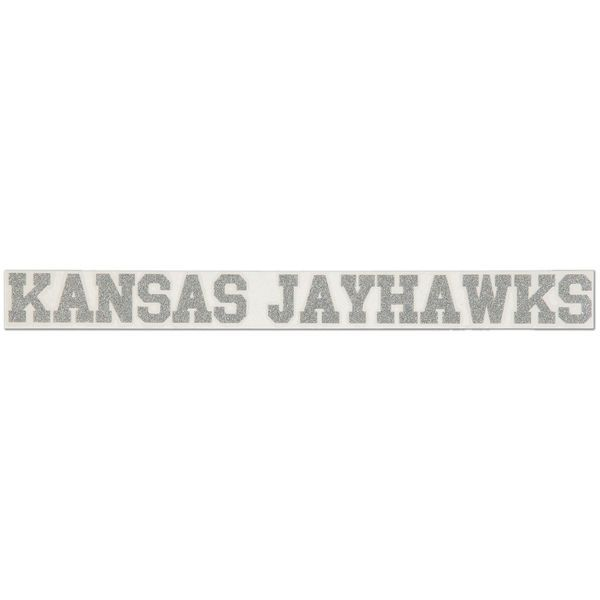 "Kansas Jayhawks 2"" x 19"" Silver Glitter Strip Decal - $6.99"