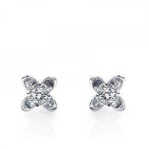Affordable Diamond Stud Earrings on 10K White Gold