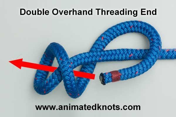 Double Overhand Threading End con video ✭Teresa Restegui http://www.pinterest.com/teretegui/ ✭