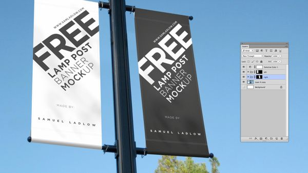 Free Lamp Post Banner Mockup on Behance