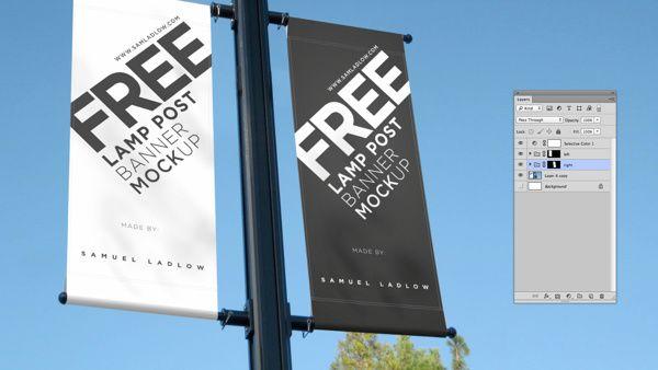 Free Lamp Post Banner Mockup on Behance