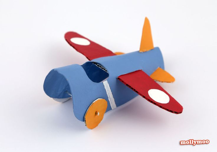 how to make a toilet roll plane