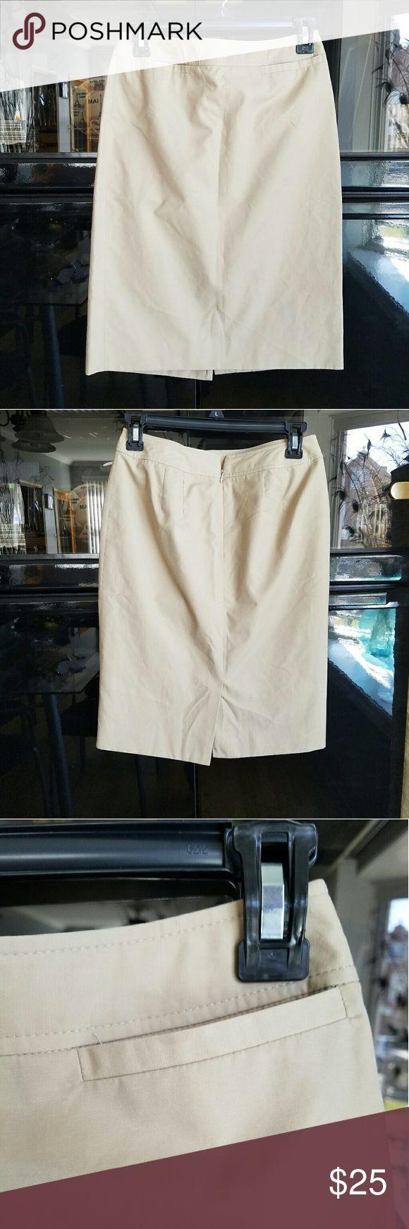 LOFT khaki pencil skirt Size 0P. Khaki skirt.  Offers welcome. LOFT Skirts Pencil