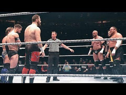 WWE LIve Buffalo - Triple H, Kevin Owens And Samoa Joe Vs Finn Balor, Sa...