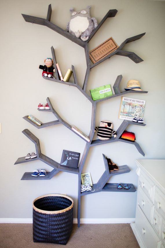 For a kids room... I need to draw out a plan for an aeroplane shelf like this for our boys room!