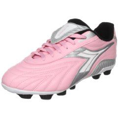 Love these pink soccer cleats for girls.