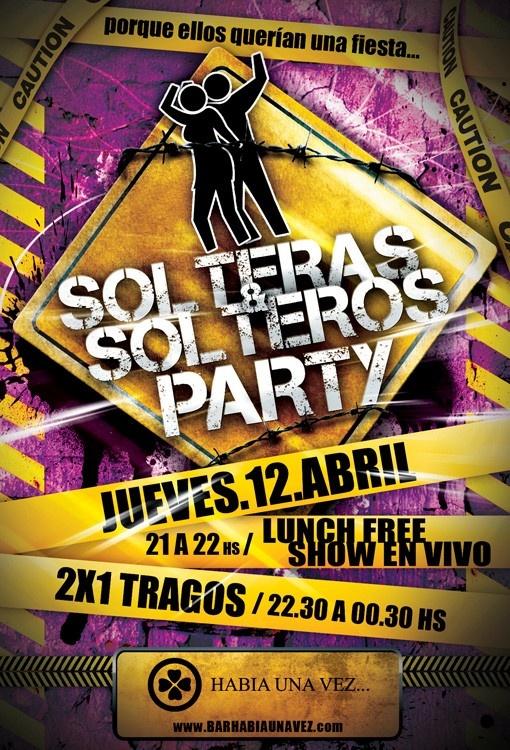 Flyer - Solteros Party