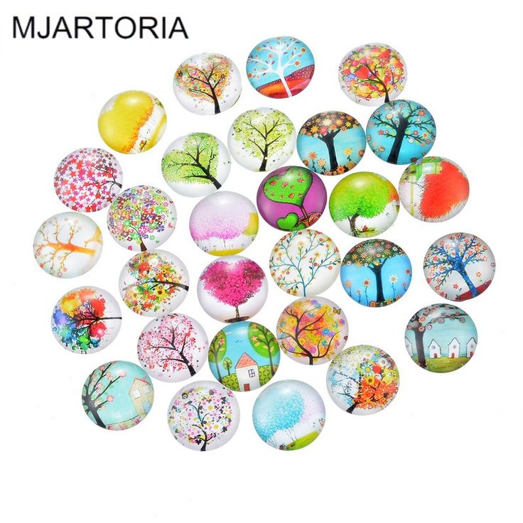 Cheap MJARTORIA 10 Unids Cabujón de Cristal 20mm Dome Cabochon Flatback Adornos Apta DIY Accesorios de La Joyería Que Hace Fuentes, Compro Calidad Joyas y Componentes directamente de los surtidores de China:  MJARTORIA Glass Cabochon 20mm Fashion Accessories Materials Round Supplies for Jewelry Accessories Harvesting For Jewel