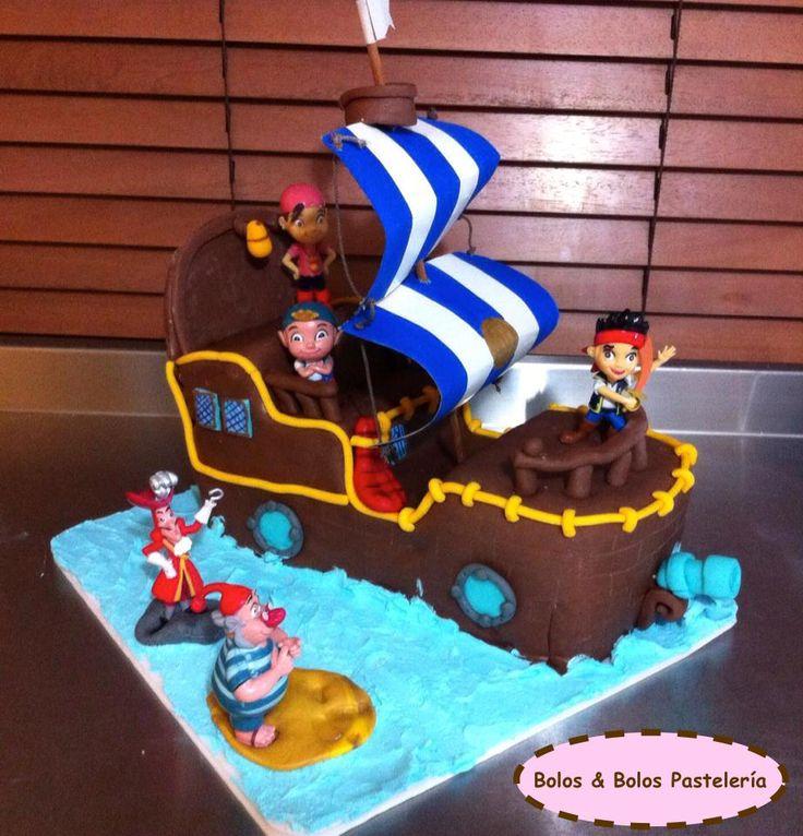 Torta de Jake y Los Piratas del nunca Jamas.