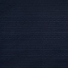 Insignia Blue Striped Polyester Brocade