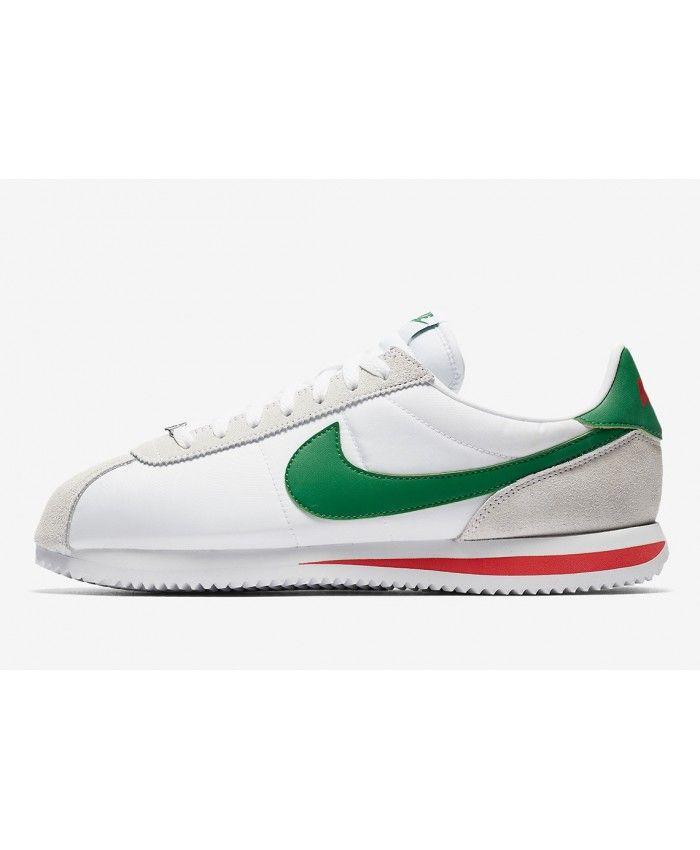 watch 04707 93ce3 Nike Cortez Femme Blanc Vert Rouge Gris