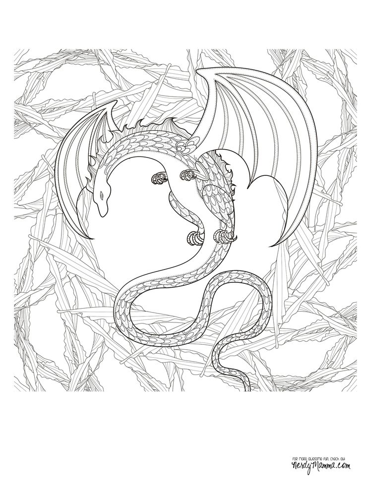 556 best Dragons to Color images on Pinterest | Coloring books ...