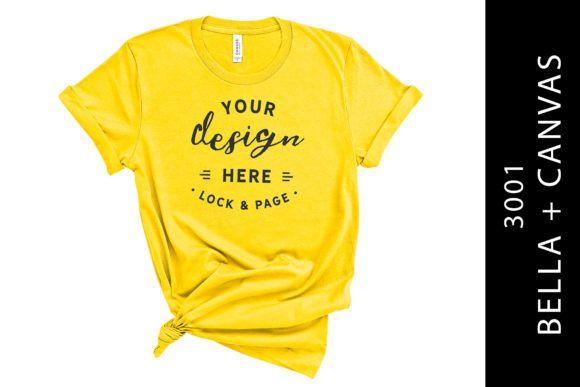 Download Yellow Bella Canvas 3001 T Shirt Mockup Graphic By Lockandpage Creative Fabrica Shirt Mockup Tshirt Mockup Mockup Design