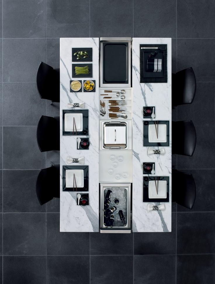 Fascinating Dining Table By Draenert + Poggenpohl
