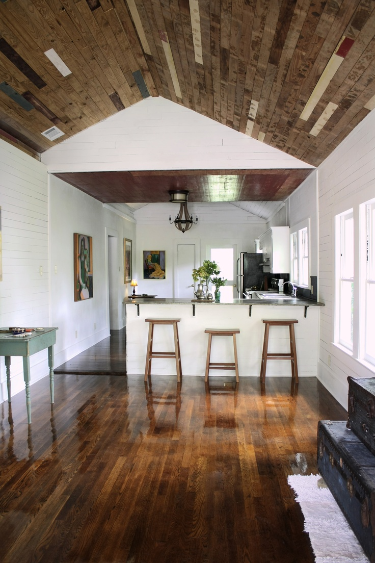 1000 images about shiplap on pinterest wood walls wood for Wood floor and ceiling