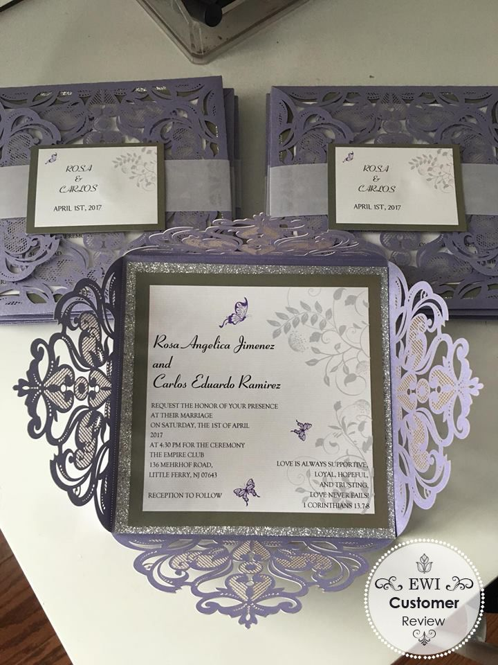 12 best Silver Wedding Invitations images on Pinterest | Silver ...