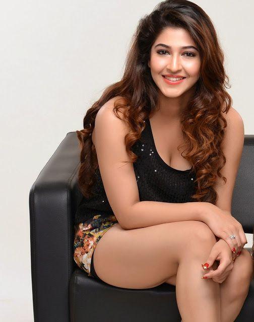 Sonarika Bhadoria in floral sexy shorts