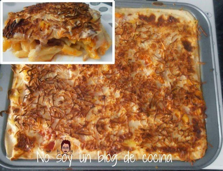 Macarrones con tomate y bechamel al horno pasta - Macarrones con verduras al horno ...