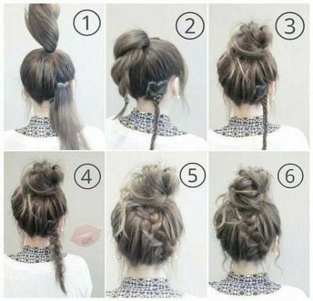 70+ ideas for hairstyles for medium length hair tutorial updo messy buns