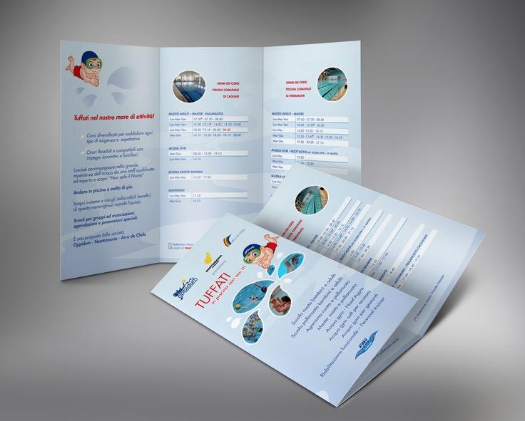 Print folder for swimming company