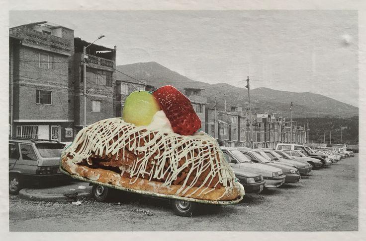 Markus Boesch / Collage 11 cm x 17,3 cm