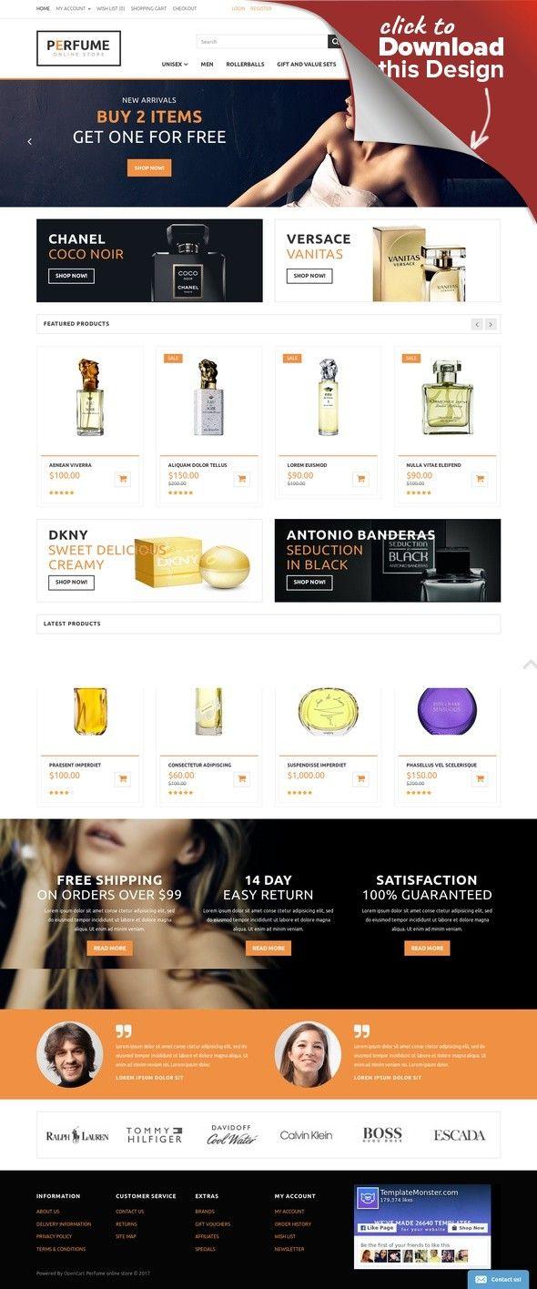 Perfume Store OpenCart Template E-commerce Templates, OpenCart Templates, Fashion & Beauty, Beauty Templates, Cosmetics Store Templates