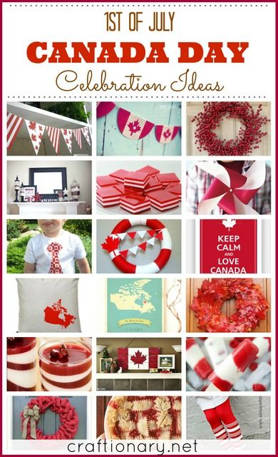 Canada day crafts and decoration ideas. I am sharing great ideas to make red and white crafts with kids and get creative with food/ recipes on patriotic day