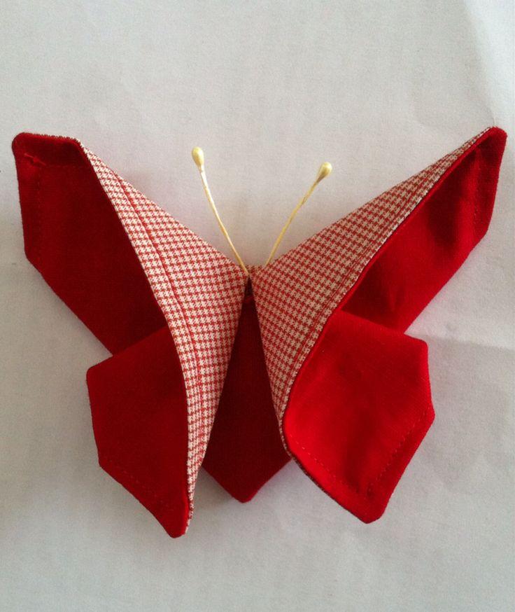 Farfalla origami in stoffa