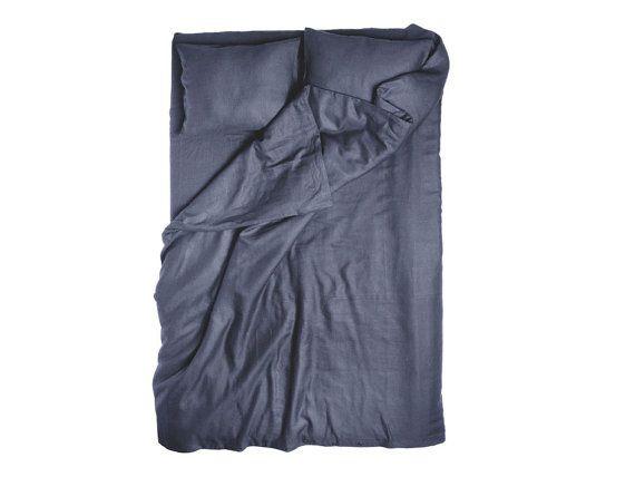 Dunkel graue Bettdecke Kohle Leinen König Duvet cover Queen Bettdecken Bettwäsche von Twin Betten voller Größe