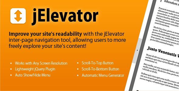 This Deals jElevator jQuery Inter-Page Navigation Toolonline after you search a lot for where to buy