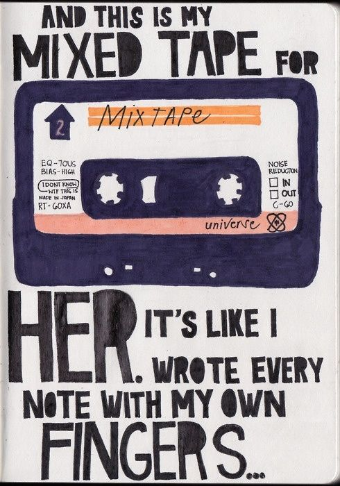 Jack's Mannequin. Such cool lyrics Such cool songs like Dark blue and The Mixed Tape. Love all of them!