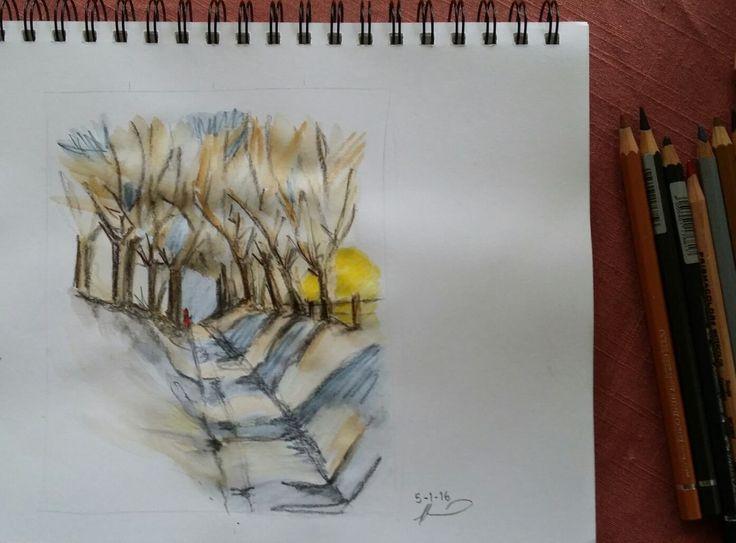 Pick a Track - Watercolour Pencils