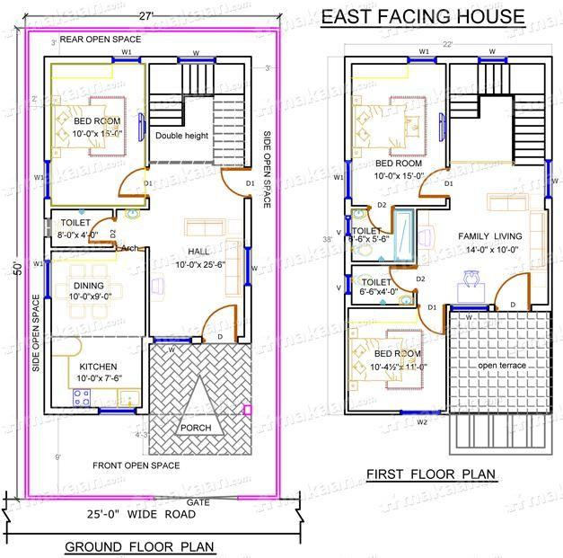 Home Design Ideas Elevation: Download South Facing Duplex House Vastu Plans