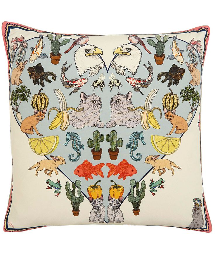 Silken Favours Multicolour Acid Trip Silk Cushion | Home | Liberty.co.uk