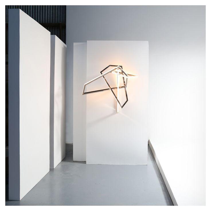 Wall Light Sculpture: His II Wall-mounted Light Sculpture [mirror