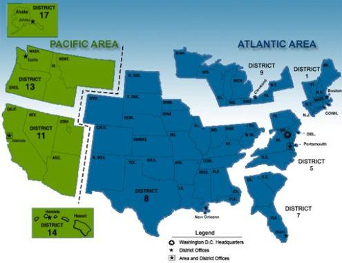 US Coast Guard Recreation Rental Locations