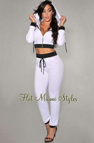 White cute jogging suit outfit | Fashion | Pinterest | Jogging Suits Jogging and Suits