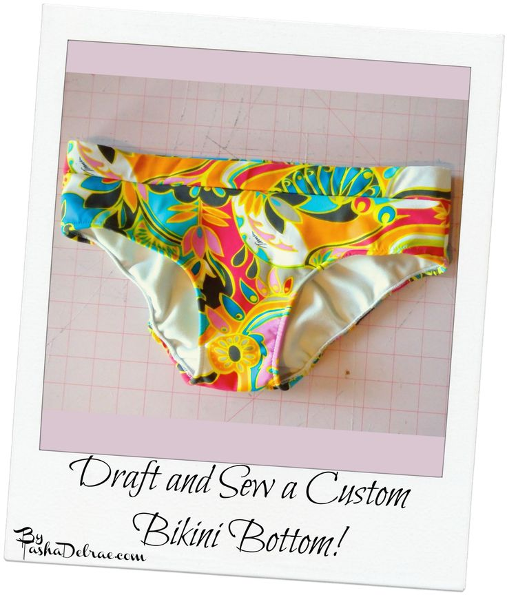 Make it Monday: Draft and Sew a Custom Bikini Bottom This would work well with the top that I plan on making