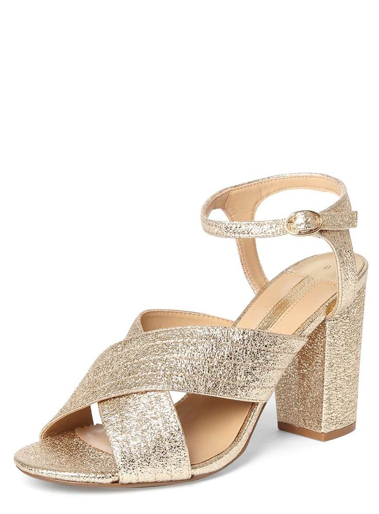 Gold 'Spring' Cross Over Sandals