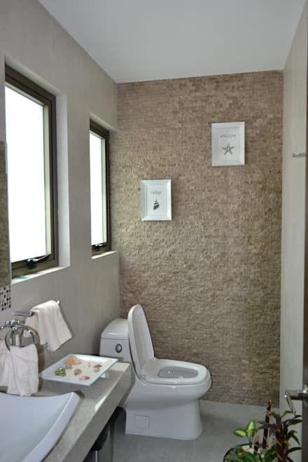 Detalle de baño: Baños de estilo  por ANTARA DISEÑO Y CONSTRUCCIÓN SA DE CV