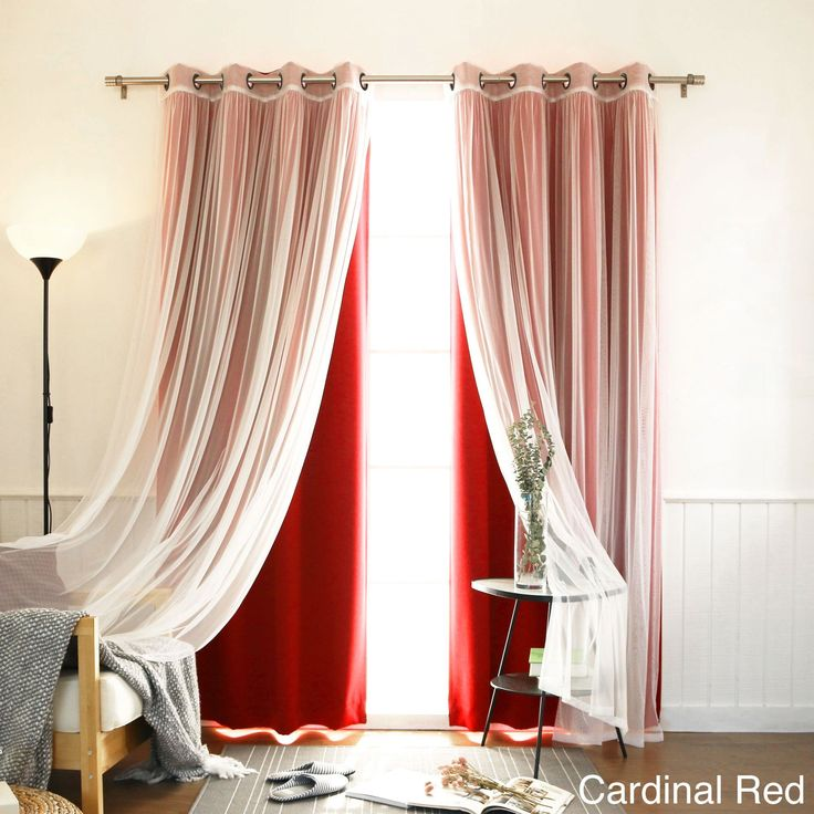 4-piece Sheer Blackout Grommet Top Curtain Panels (