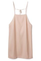 <p>The Zin Dress has delicate shoulder straps with a deep back neck drop. This shortviscose dress is lightweight with a slightly translucent feel and has a straight silhouette.</p><p>- Size Small measures 48 cm across front chest and 34,50 cm in strap length.</p>