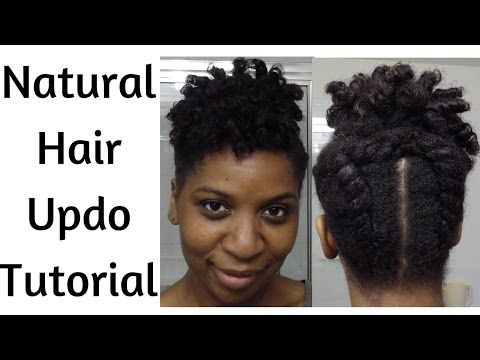 Faux Tapered Cut Natural Hair Updo ~ LP Share | Naturally LP