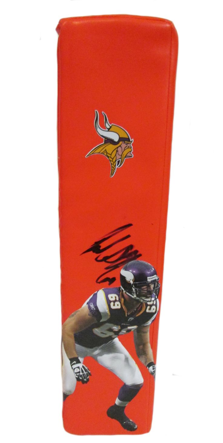 Jared Allen signed Minnesota Vikings Rawlings football touchdown end zone pylon w/ proof photo.  Proof photo of Jared signing will be included with your purchase along with a COA issued from Southwestconnection-Memorabilia, guaranteeing the item to pass authentication services from PSA/DNA or JSA. Free USPS shipping. www.AutographedwithProof.com is your one stop for autographed collectibles from Minnesota sports teams. Check back with us often, as we are always obtaining new items.